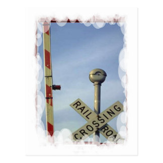 Vintage Transport - Crossing and barrier Postcard