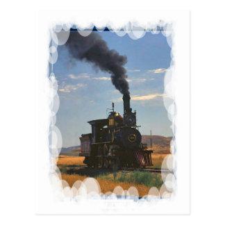Vintage Transport - steam on the plain Postcard