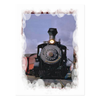 Vintage Transport - Steam train and carriages Postcard