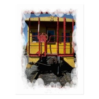 Vintage Transport - wooden rail car Postcard