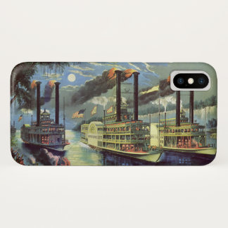 Vintage Transportation and Travel Ships Steamboats iPhone X Case