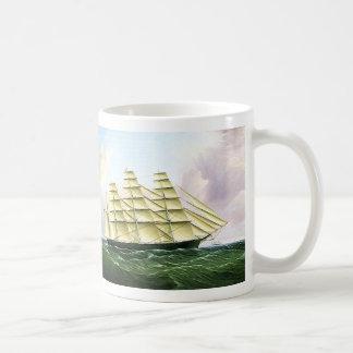 Vintage Transportation Antique Clipper Ship at Sea Coffee Mug