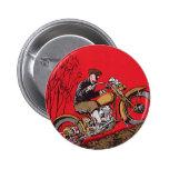 Vintage Transportation, Antique Motorcycle Rider 2 Inch Round Button