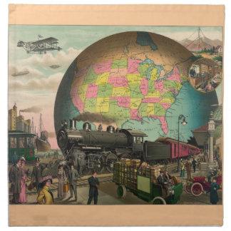 Vintage Transportation Art Napkins
