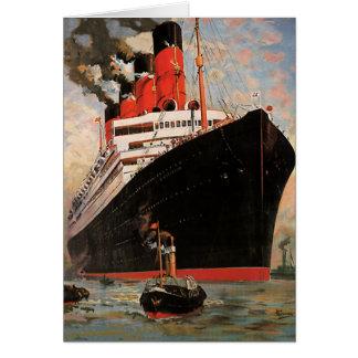 Vintage Transportation, Cruise Ship Harbor Tugboat Card