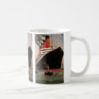 Vintage Transportation, Cruise Ship Harbor Tugboat Coffee Mug