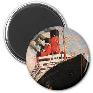 Vintage Transportation, Cruise Ship Harbor Tugboat Magnet