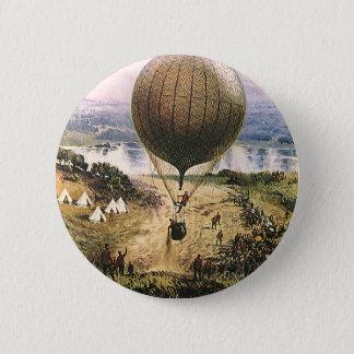 Vintage Transportation, Hot Air Balloon Dirigibles Button