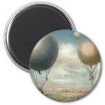 Vintage Transportation Hot Air Balloons, Dirigible Fridge Magnets