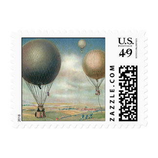Vintage Transportation Hot Air Balloons, Dirigible Stamps