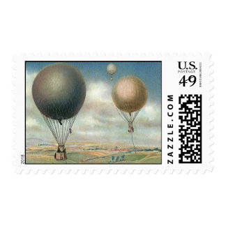 Vintage Transportation Hot Air Balloons, Dirigible Postage Stamp