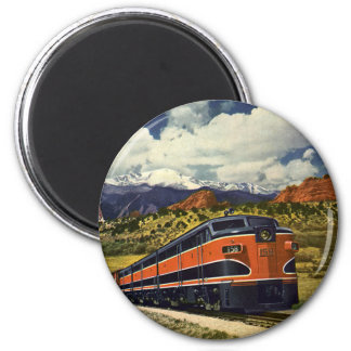 Vintage Transportation in American West, Train 158 Magnet