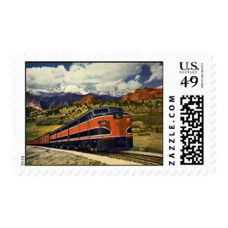 Vintage Transportation in American West, Train 158 Postage