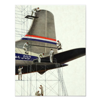 Vintage Transportation, Maintenance for Airplanes Card
