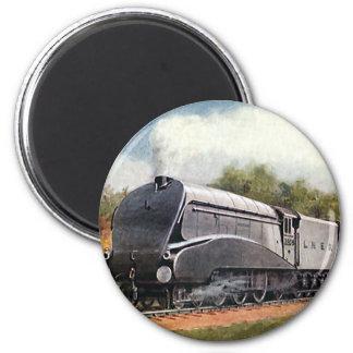Vintage Transportation, Modern Silver Bullet Train Magnet