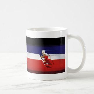 Vintage Transportation, Patriotic Racers Race Cars Classic White Coffee Mug