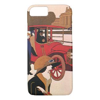 Vintage Transportation, Red Antique Automobile iPhone 8/7 Case