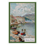 Vintage Travel 1920's Menton, French Riviera Poster