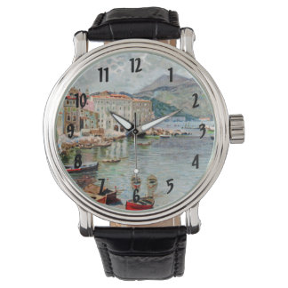Vintage Travel 1920's Menton, French Riviera Wristwatch