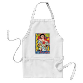 Vintage Travel 1937 Panama Carnival Party Woman Adult Apron