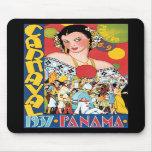 Vintage Travel 1937 Panama Carnival Woman Party Mousepad