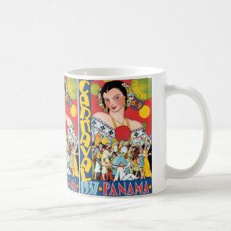 Vintage Travel 1937 Panama Carnival Woman Party Mug