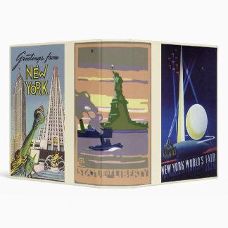 Vintage Travel, 3 different NYC Landmarks Vinyl Binders