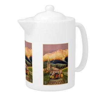 Vintage Travel Abrvzzo Italy teapot