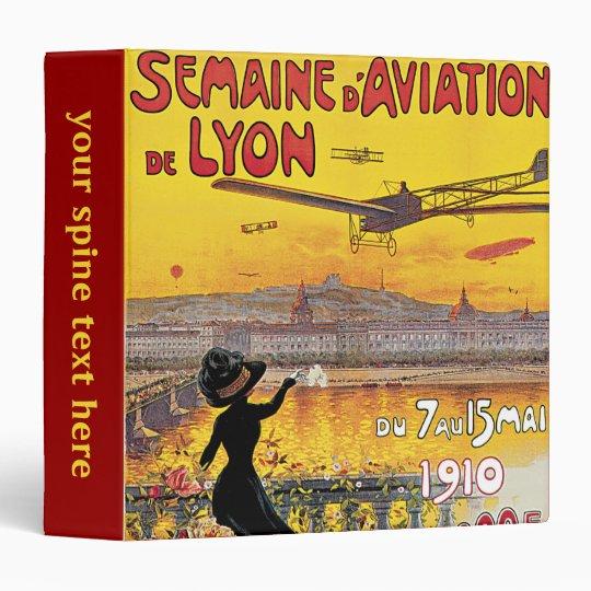 Vintage Travel, Airplanes Air Show, Lyon, France 3 Ring Binder