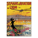 Vintage Travel, Airplanes Air Show, Lyon, France Greeting Card