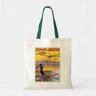 Vintage Travel, Airplanes Air Show, Lyon, France Tote Bag