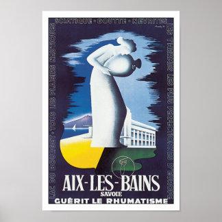 Vintage Travel Aix-Les-Bains France Poster