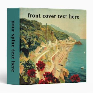 Vintage Travel, Amalfi Italian Coast Beach Binder