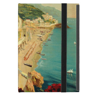 Vintage Travel, Amalfi Italian Coast Beach Cover For iPad Mini