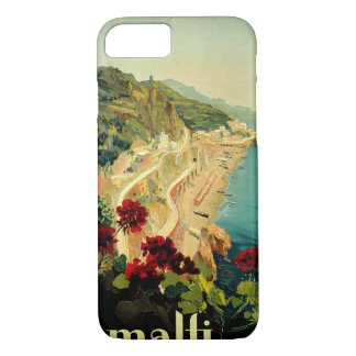 Vintage Travel, Amalfi Italian Coast Beach iPhone 8/7 Case