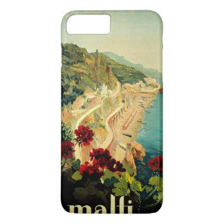 Vintage Travel, Amalfi Italian Coast Beach iPhone 8 Plus/7 Plus Case