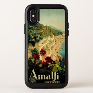 Vintage Travel, Amalfi Italian Coast Beach OtterBox Symmetry iPhone X Case