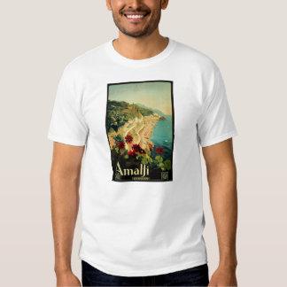 Vintage Travel, Amalfi Italian Coast Beach T Shirt