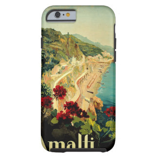 Vintage Travel, Amalfi Italian Coast Beach Tough iPhone 6 Case