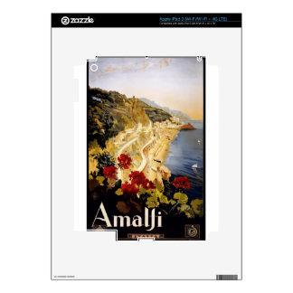 Vintage Travel Amalfi Italy Skin For iPad 3