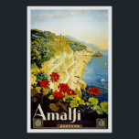 "Vintage travel,Amalfi Poster<br><div class=""desc"">Vintage travel poster of Amalfi.</div>"