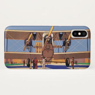 Vintage Travel and Transportation Biplane Airplane iPhone X Case