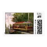 Vintage Travel and Transportation Electric Trolley Postage Stamp