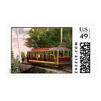 Vintage Travel and Transportation Electric Trolley Postage Stamp