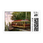 Vintage Travel and Transportation Electric Trolley Stamps
