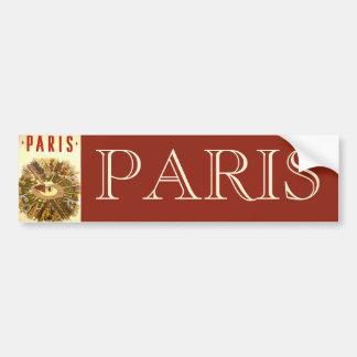 Vintage Travel, Arc de Triomphe Paris France Bumper Sticker