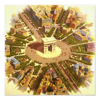 Vintage Travel, Arc de Triomphe Paris France Card