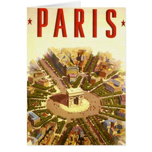 Vintage Travel, Arc de Triomphe Paris France Greeting Cards