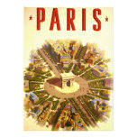 Vintage Travel, Arc de Triomphe Paris France Custom Invite