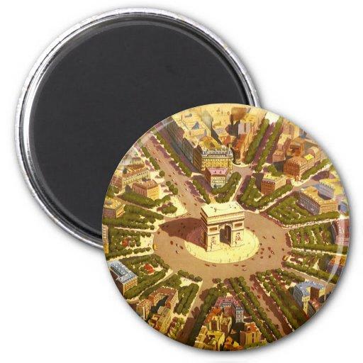 Vintage Travel, Arc de Triomphe Paris France Magnets